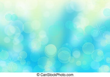 Abstract christmas circular bokeh blue background From...