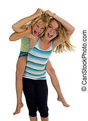 naughty sisters having fun - playful young naughty sisters...