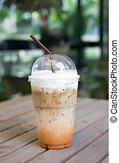 Take-home cup of ice coffee. - take-home cup of ice coffee...