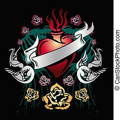 Classic heraldic emblem