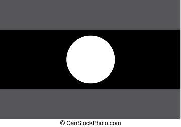Illustrated grayscale flag of the country of Laos - An...