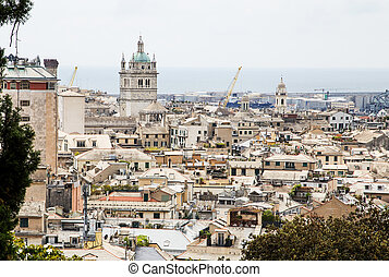 Genoa, the citys skyline