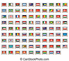 Illustrated Set of World Flags - Tablet PC - An Illustrated...