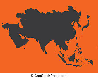 Shape of the Continent of Asia - The Shape of the Continent...