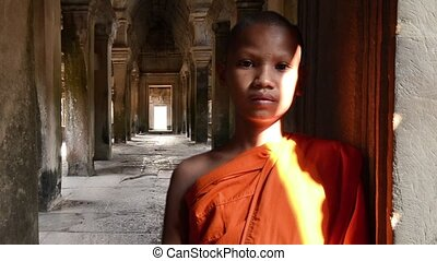 young buddhist monk portrait