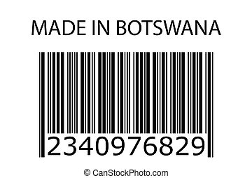 Illustration of stamp marked Made in Botswana - An...