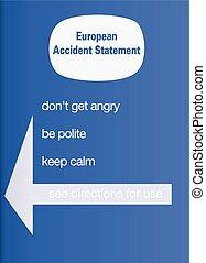 European accident statement