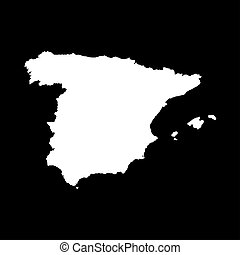 Illustration on an Orange background of Spain - An...