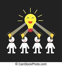 creative teamwork symbol - vector business creative teamwork...