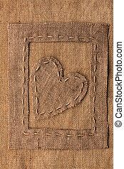 Conceptual image of the heart in the frame lying on...