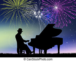 New Year concert - illustration of New Year concert