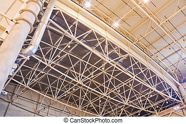 Ceiling of storehouse - Roof of large modern storehouse