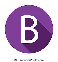 Illustration of a Letter with a Long Shadow - Letter B - A...