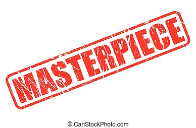 Masterpiece red stamp text on white
