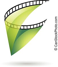 GreenTransparent Film Reel Icon - Green Transparent Film...