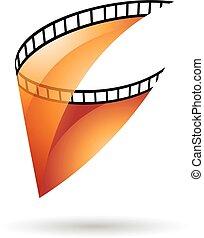 Orange Transparent Film Reel Icon - Orange Transparent Film...