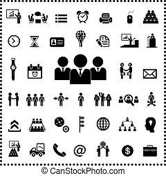 Business teamwork icon set - Business teamwork icon set on...