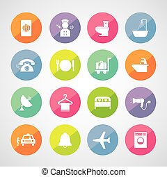 hotel and travel icon set - vector basic icon set for hotel...
