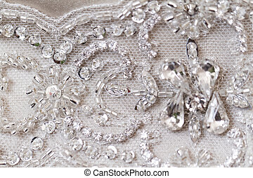 Beautiful lace - Detail of wedding dress - macro photo