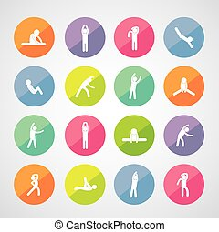 body exercise icon - body exercise stick figure icon