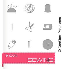 Vector sewing icons set