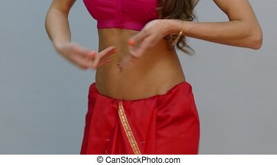 moving torso of Indian woman