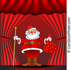 santa 01 - chistmas and new year greetin card, vector...