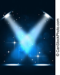 Event Spotlights - party spotlights music background for...