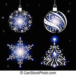 Christmas ornaments. - Set of beautiful Christmas ornaments....