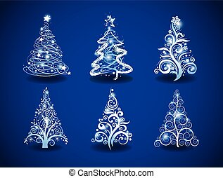 Modern Christmas trees - Six Christmas trees to create...