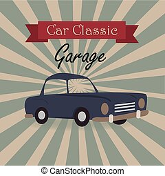 car classic label over grunge background vector illustration...