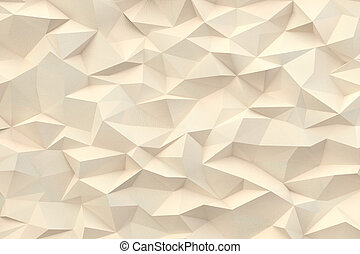 Abstract triangles background - Abstract beige paper...