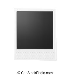 Retro photo frame Photo realistic vector illustration