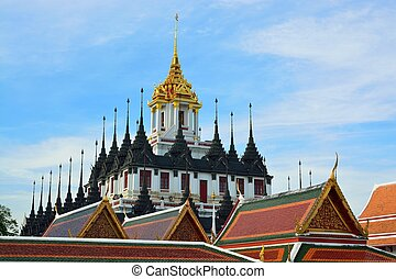 Bangkok's Loha Prasat or Metal Castle in Thailand