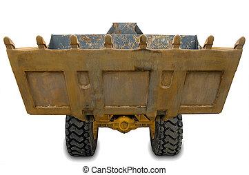 Wheel excavator with bucket beam