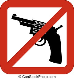 No gun sign on white background Vector illustration