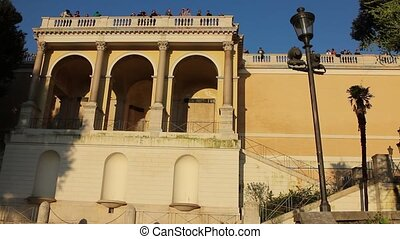 Belvedere del pincio Roma - Shot of the famous Terrazza del...