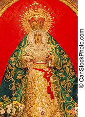 Basilica Mary With Tears Le Macarena Statue Santa Iglesia...