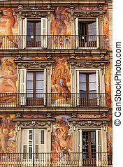 Plaza Mayor Walls Cityscape Madrid Spain - Plaza Mayor Walls...