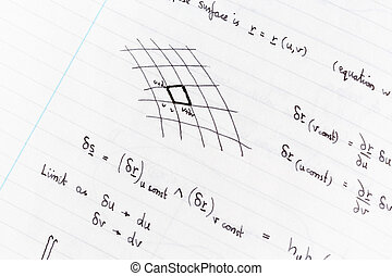 Studying math - Surface integration equations and diagram...