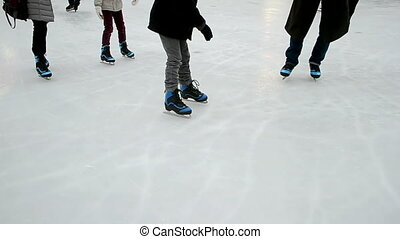 figure skates on the ice, winter sport diversity