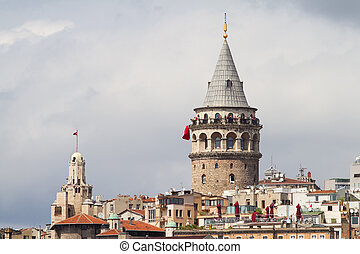 Galata Tower in Galata District, Beyoglu, Istanbul