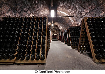 beverage storage cellar - an old cellar of a traditional...