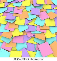 Colored Sticky Note Background Collage - A collage of pastel...