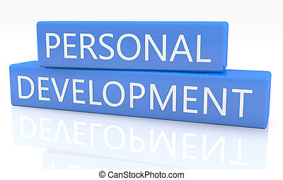 Personal Development - 3d render blue box with text Personal...