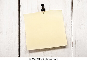 Blank note paper with pin