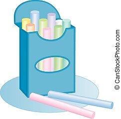 Chalk box, pastels