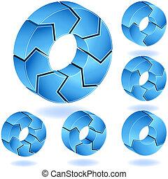 Isometric Chevron Set