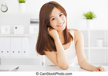 Young beautiful asian woman