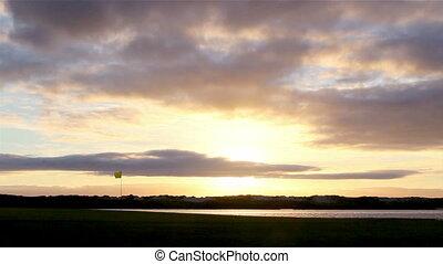 Algarve QDL Golfe Sunset C Timelaps - Algarve golf course...